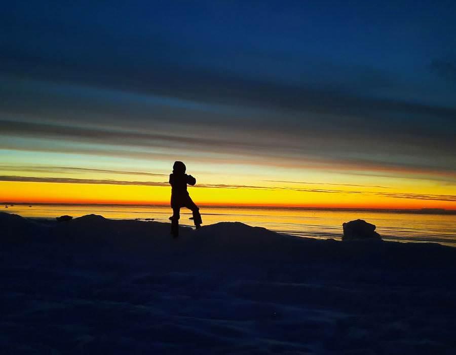 aufgang wintersonne in goehren auf ruegen | Reiseblog Rügen