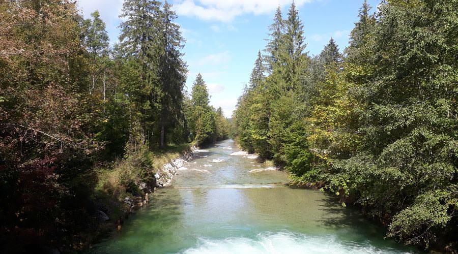 die traun ruhpolding fluss in oberbayern | Reiseblog Rügen