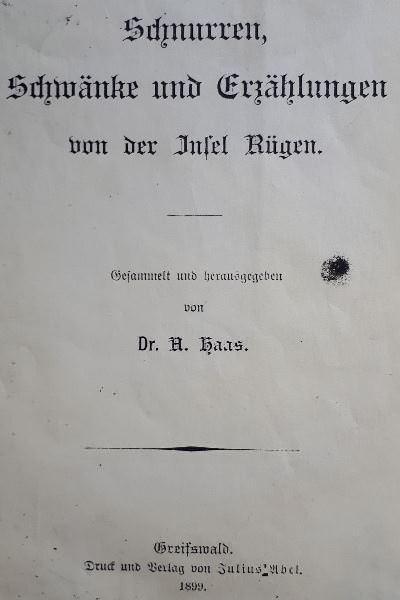 dr alfred haas buch erzaehlungen von der insel ruegen   Reiseblog Rügen