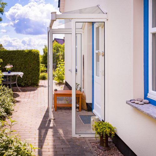 eingang ferienwohnung im ostseebad goehren auf ruegen zum alten pfau | Reiseblog Rügen