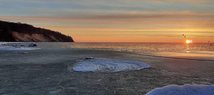 eis gefrorene ostsee wintersonne goehren ruegen | Reiseblog Rügen