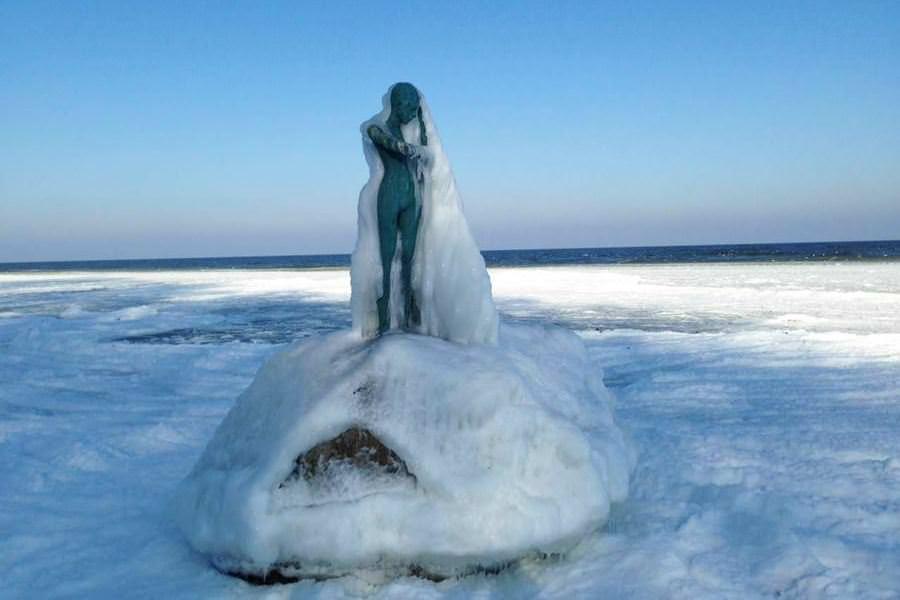 eis skulptur ostsee winter 2018 | Reiseblog Rügen