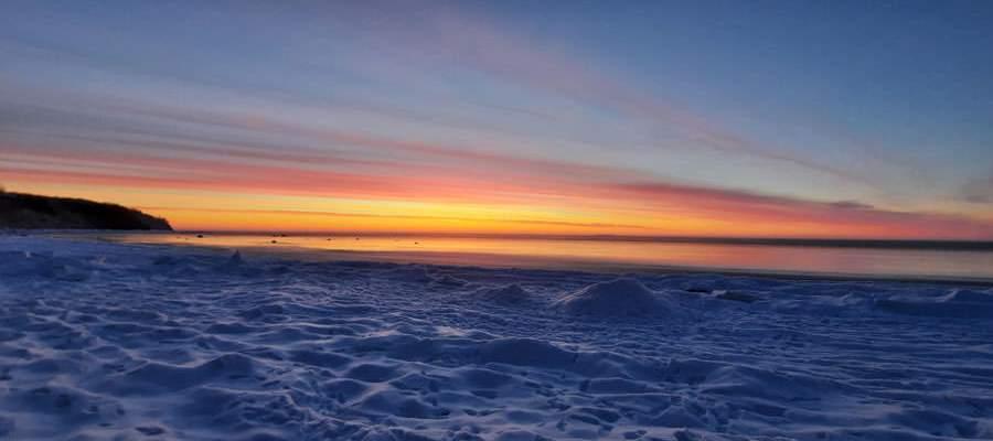 gefrorene ostsee strand goehren insel ruegen | Reiseblog Rügen