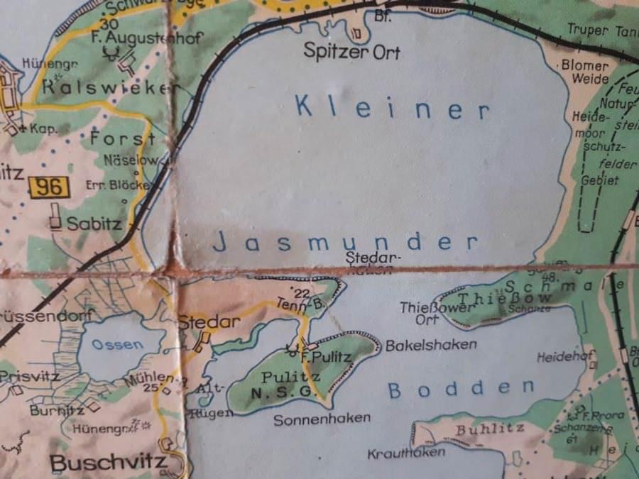 historische landkarte alt ruegen 1930 | Reiseblog Rügen