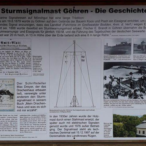 infotafel sturmsignal goehren insel ruegen | Reiseblog Rügen
