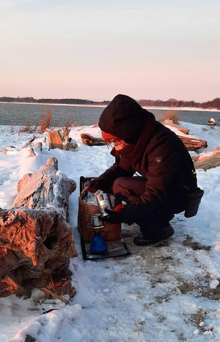 kaffee am strand winter 2021 auf ruegen | Reiseblog Rügen