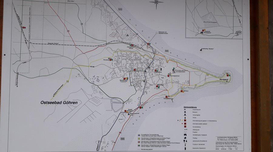 karte wanderweg auf ruegen goehrener hoevt | Reiseblog Rügen