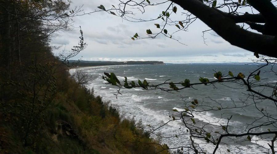 kueste bei sturm auf rugen nordstrand in goehren | Reiseblog Rügen