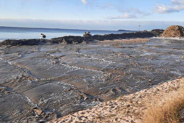 sandvorspuelung goehren ruegen suedstrand lobber bucht | Reiseblog Rügen