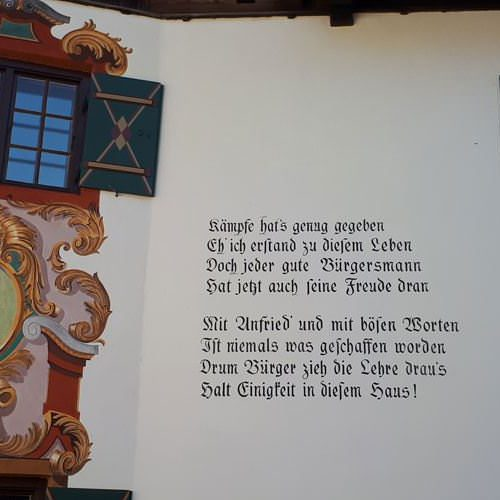 spruch an der hauswand tradition in bayern | Reiseblog Rügen