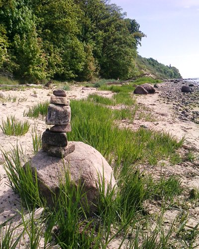 steintuermchen goehren ruegen suedstrand   Reiseblog Rügen
