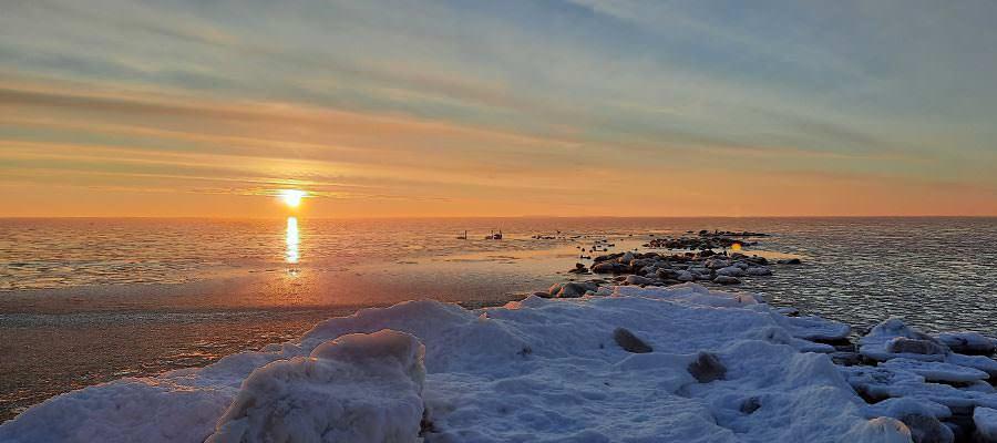 strand ostseebad goehren ruegen im winter schwedenbruecke | Reiseblog Rügen