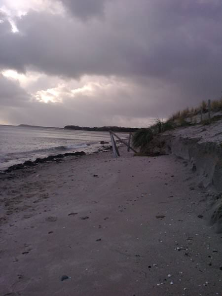 suedstrand in goehren auf ruegen nach dem sturm | Reiseblog Rügen