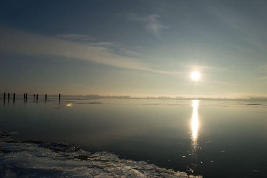 winter auf ruegen strelasund im eis | Reiseblog Rügen