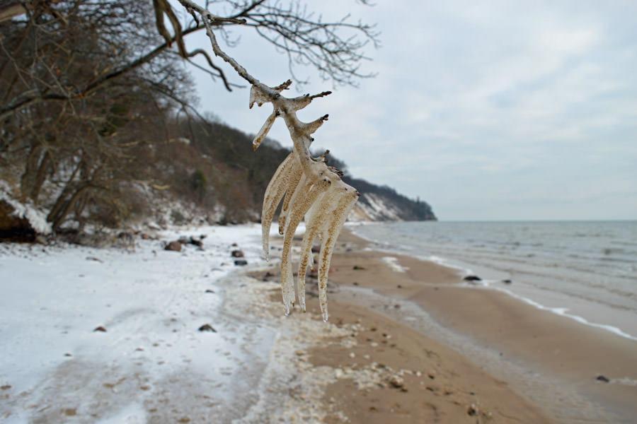 winterlandschaft ruegen strand ostseebad goehren | Reiseblog Rügen