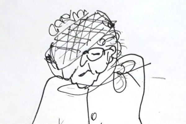 zeichung alte frau maria mueller goehren ruegen | Reiseblog Rügen
