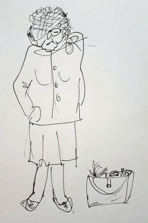zeichung oma mueller aus goehren reiseblog ruegen | Reiseblog Rügen